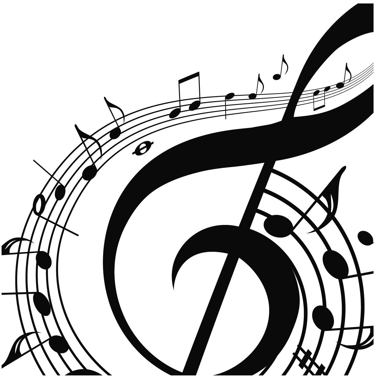Coloring pages question mark - Music Notes Coloring Page