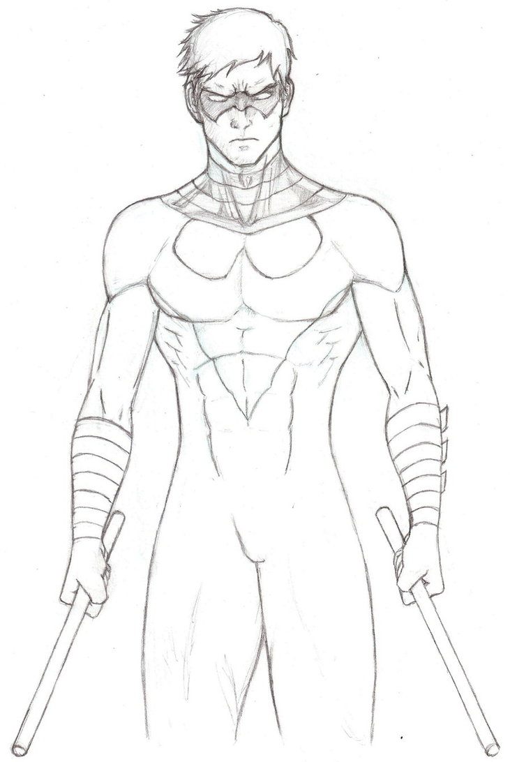 nightwing coloring pages to print - Nightwing Coloring Pages