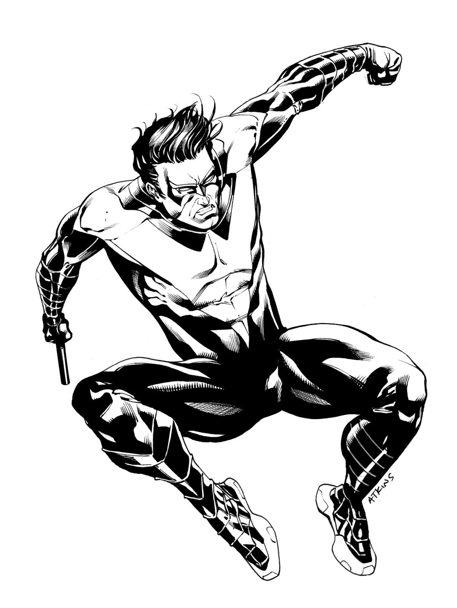 nightwing coloring pages - Nightwing Coloring Pages