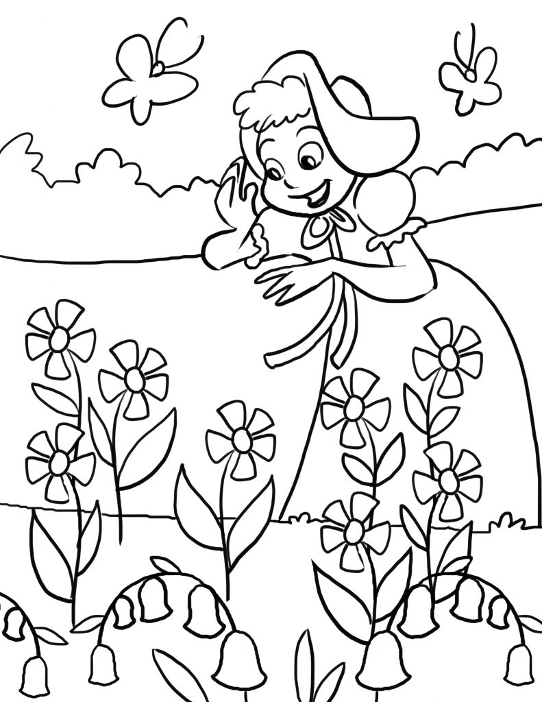 Free printable nursery rhymes coloring pages for kids for Kids fun coloring pages
