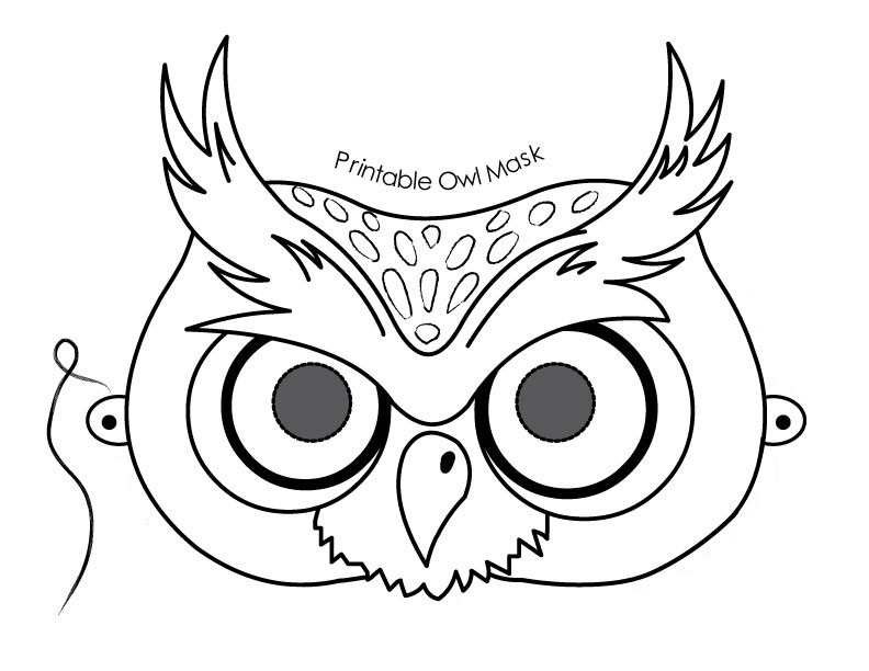Free printable mask coloring pages for kids for Children s mask templates