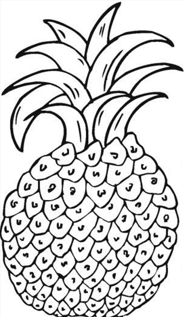 free pie coloring pages for kids | Free Printable Pineapple Coloring Pages For Kids