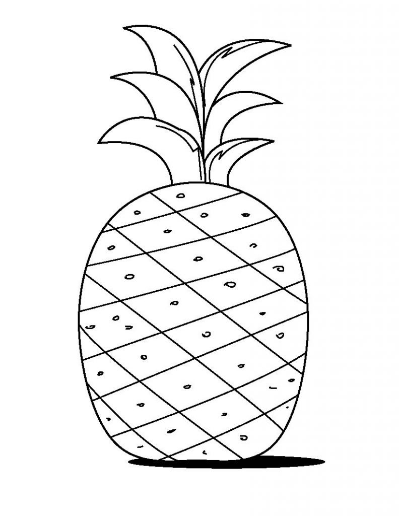 coloring pages pinaple - photo#14