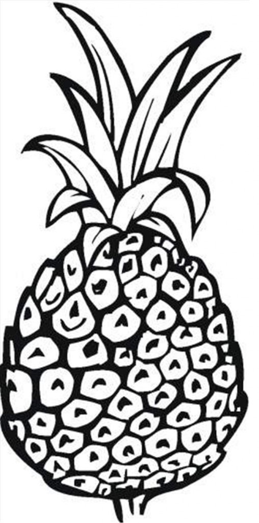 Pineapple Coloring Pages To Print