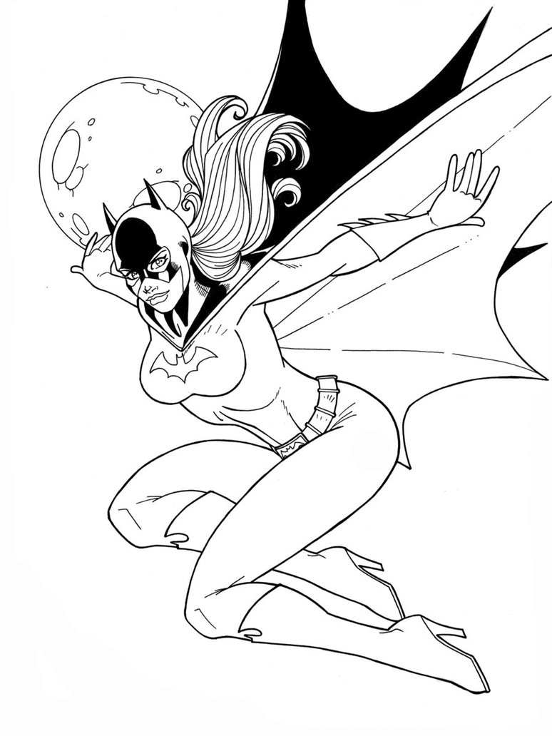 printable batgirl coloring pages for kids