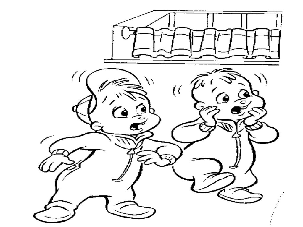 free chipettes coloring pages - photo#29