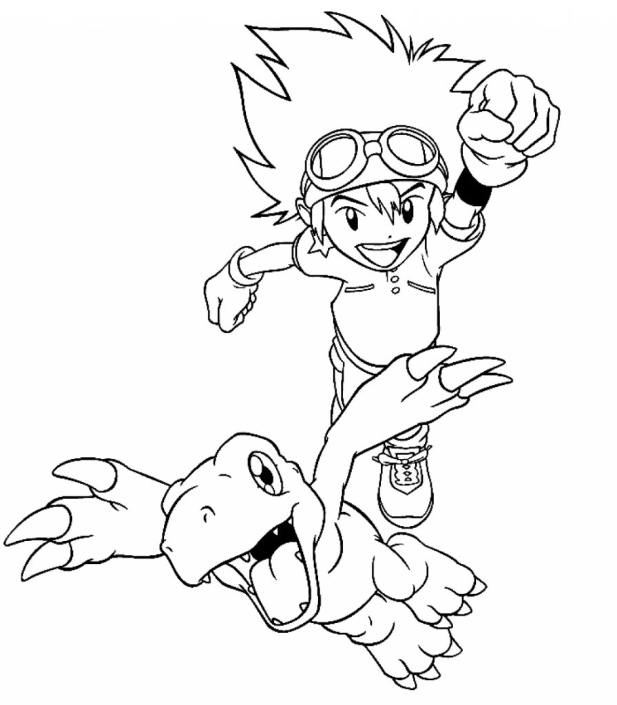 Free Printable Digimon Coloring Pages For Kids Printable Pages