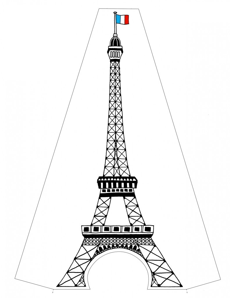 Free printable eiffel tower coloring pages for kids for Torre enfel