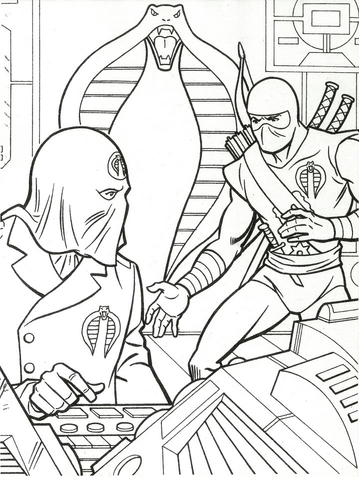 Printable GI Joe Coloring Pages