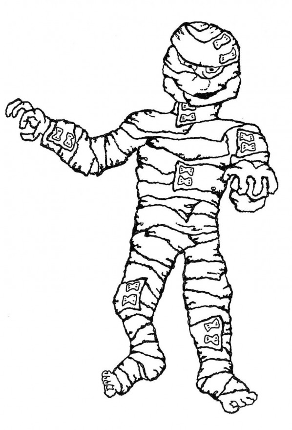 halloween mummy coloring pages - photo#8
