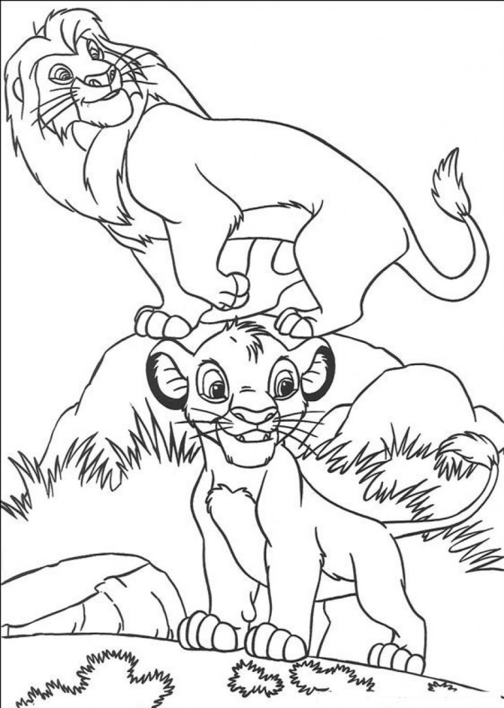 printable coloring pages for toddlers free - free printable simba coloring pages for kids