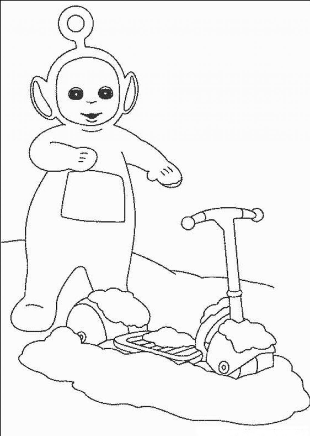 Free printable teletubbies coloring pages for kids for Fun coloring pages for kids