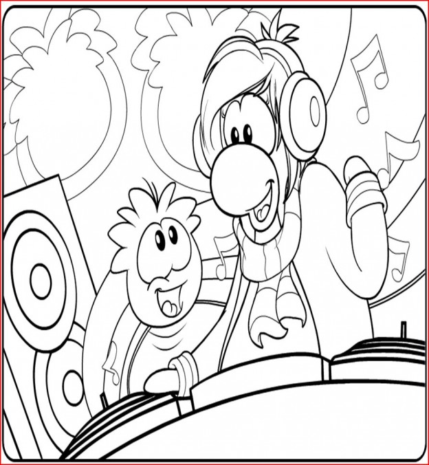 puffles coloring pages - photo#25