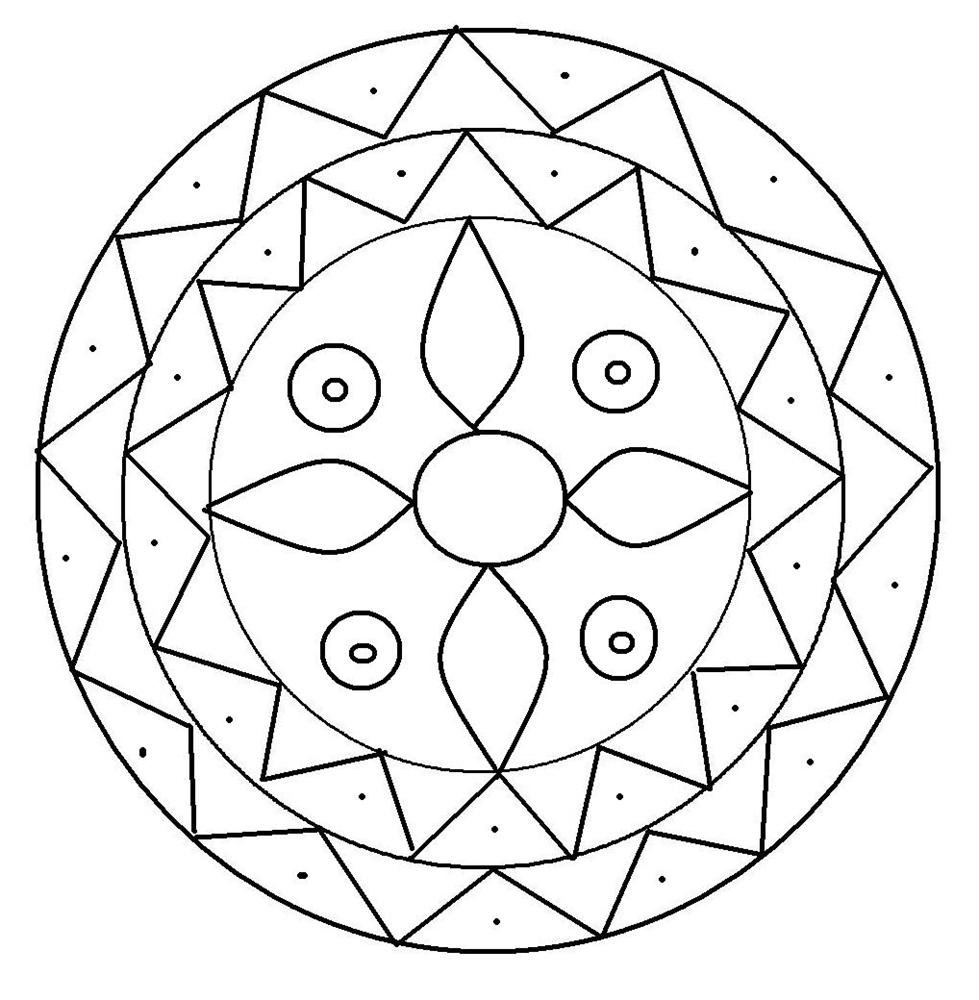 rangoli coloring pages for kids - Coloring In Patterns