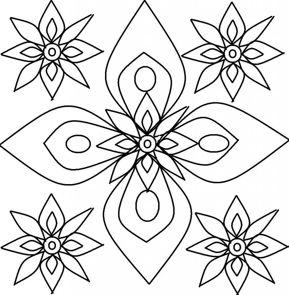 Design Coloring Pages For Kids Free Printable Rangoli