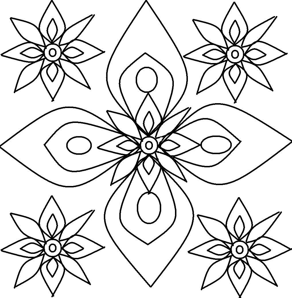 rangoli coloring pages to print - Color Patterns For Kids