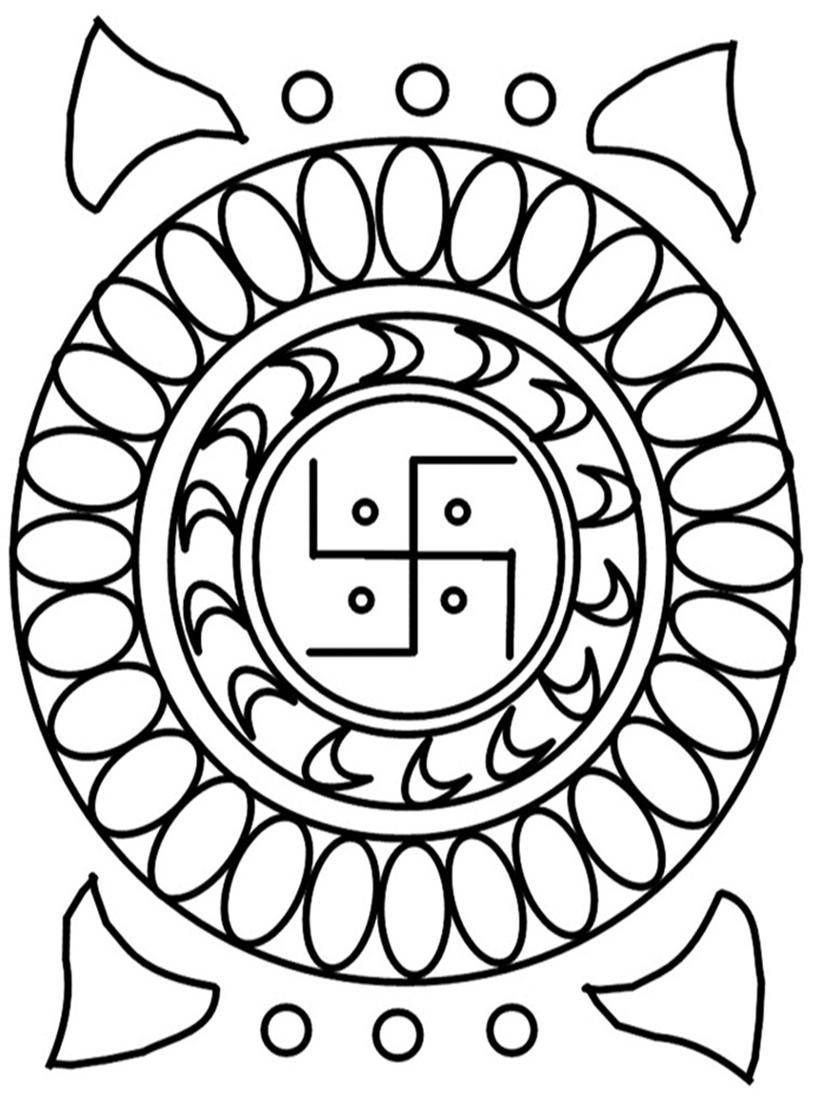rangoli free printable coloring pages