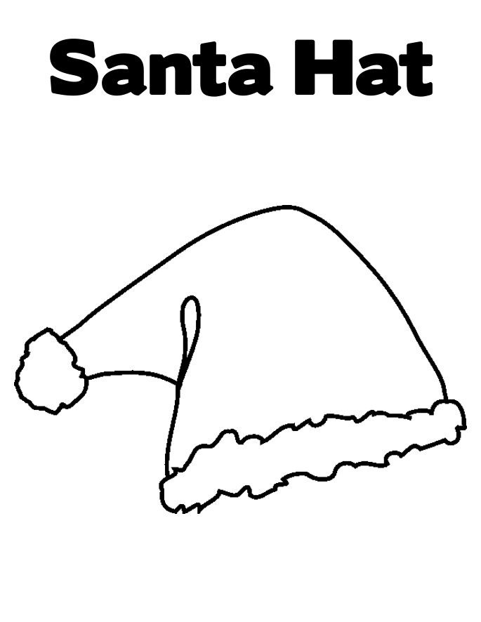 free christmas hat coloring pages - photo#18