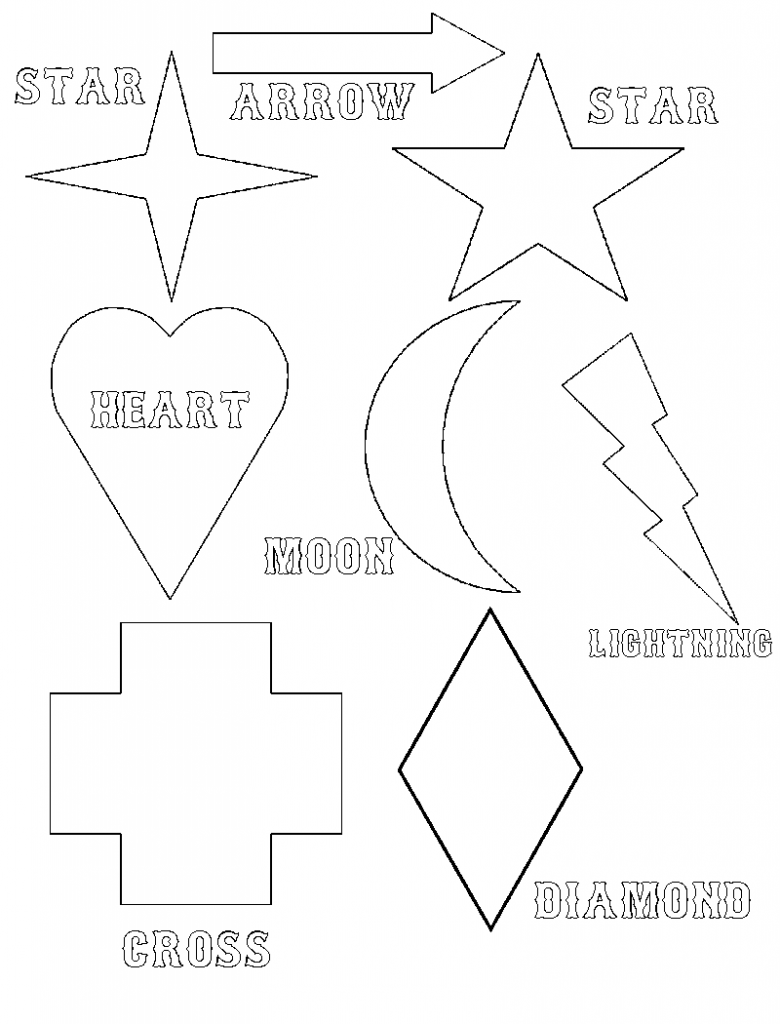 shapes printable coloring pages - photo#36