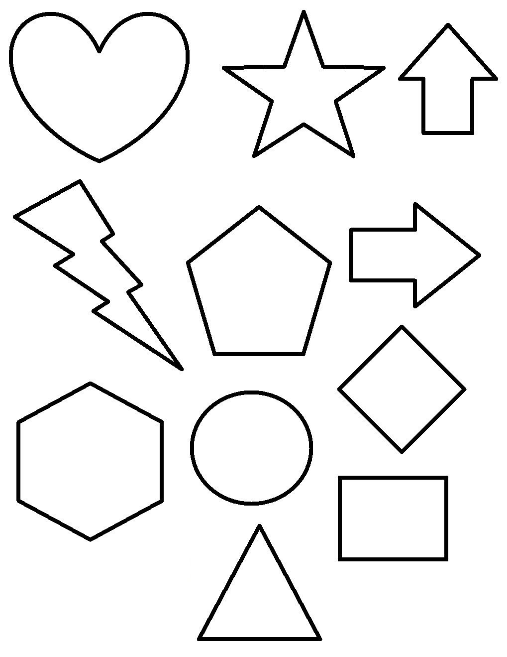 coloring pages of different shapes - photo#1