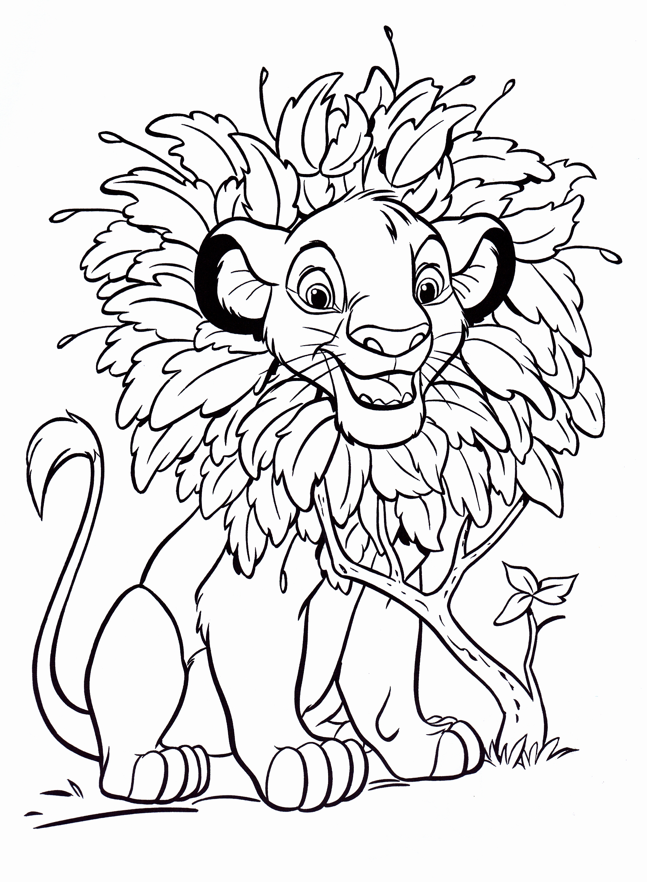 Free printable simba coloring pages for kids for Free disney coloring pages to print