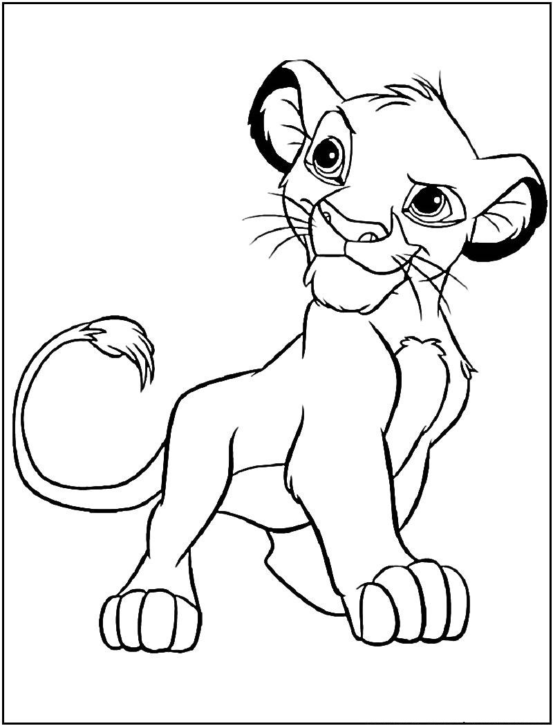 Free printable simba coloring pages for kids - Simba coloriage ...