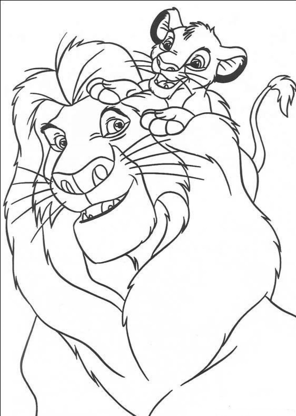 lion king coloring pages - photo#5
