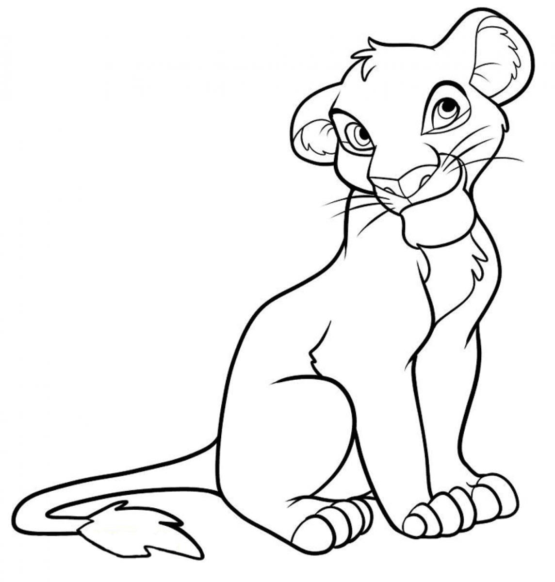 Lion King Coloring Page Nala And Simba