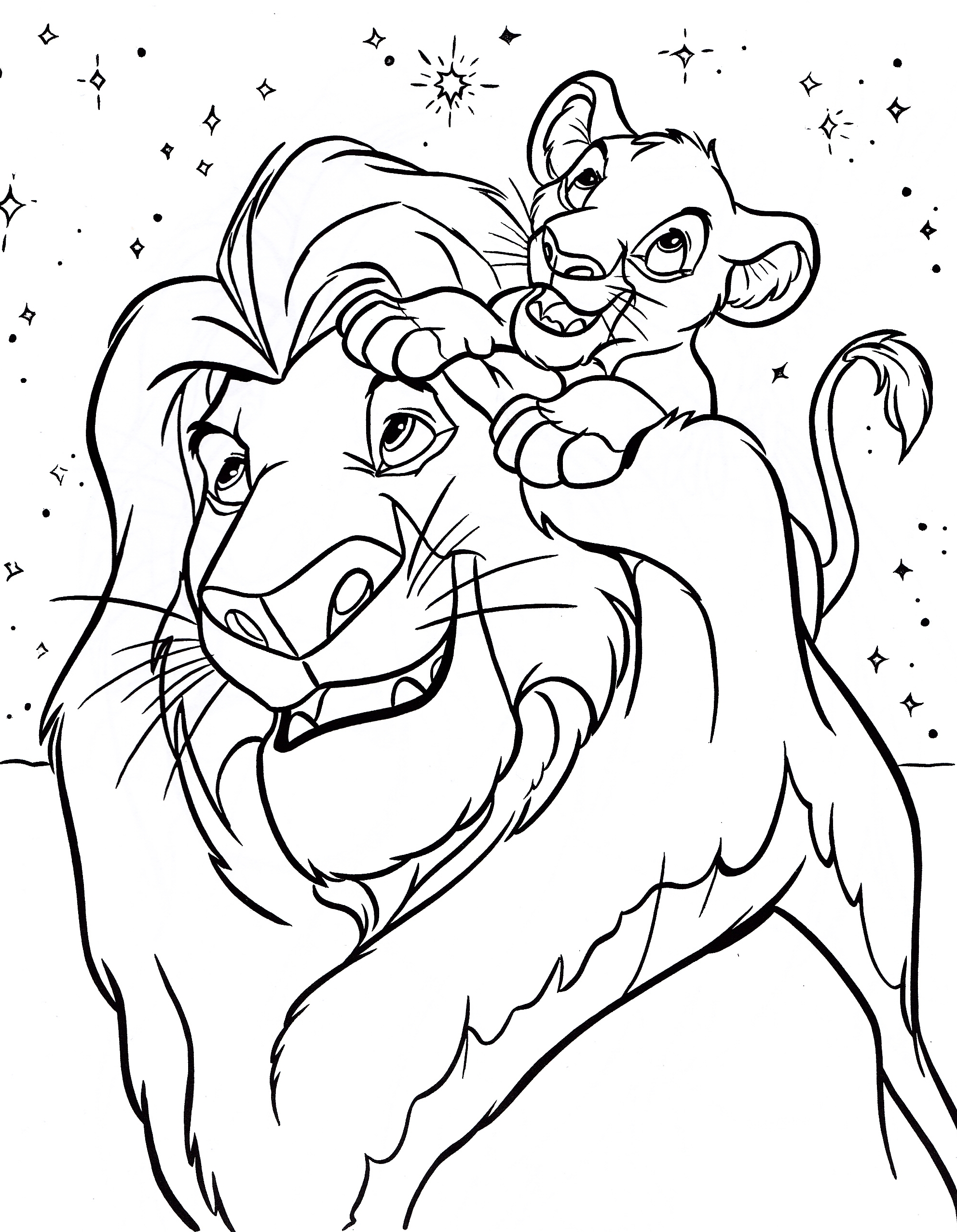 Lion King Baby Simba Coloring Pages
