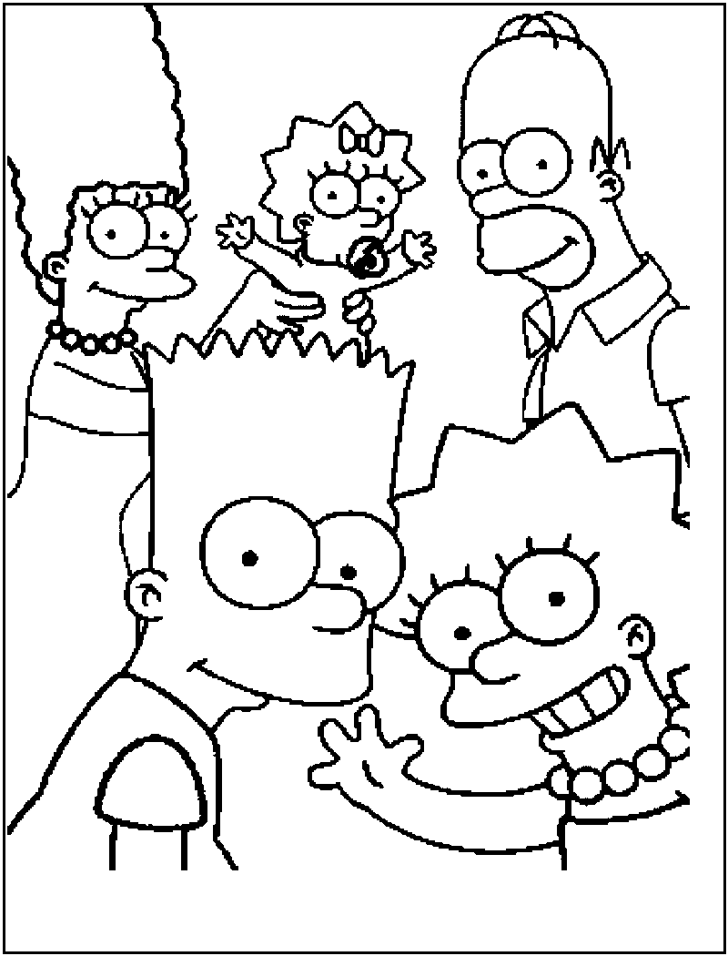 free printable simpsons coloring pages for kids - Printable Simpsons Coloring Pages