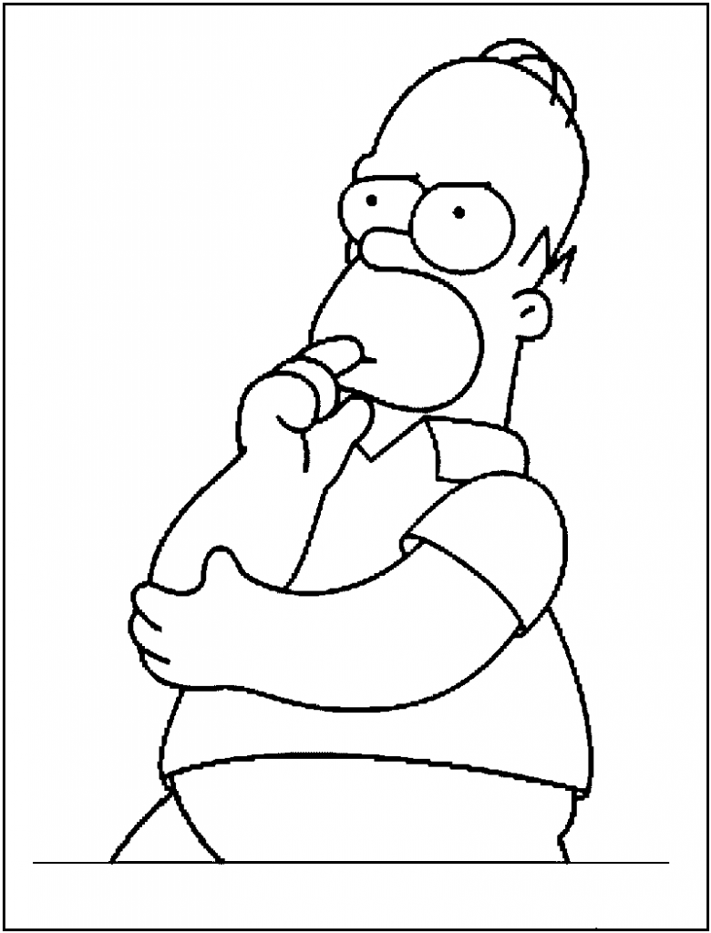 free coloring pages simpsons - photo#12