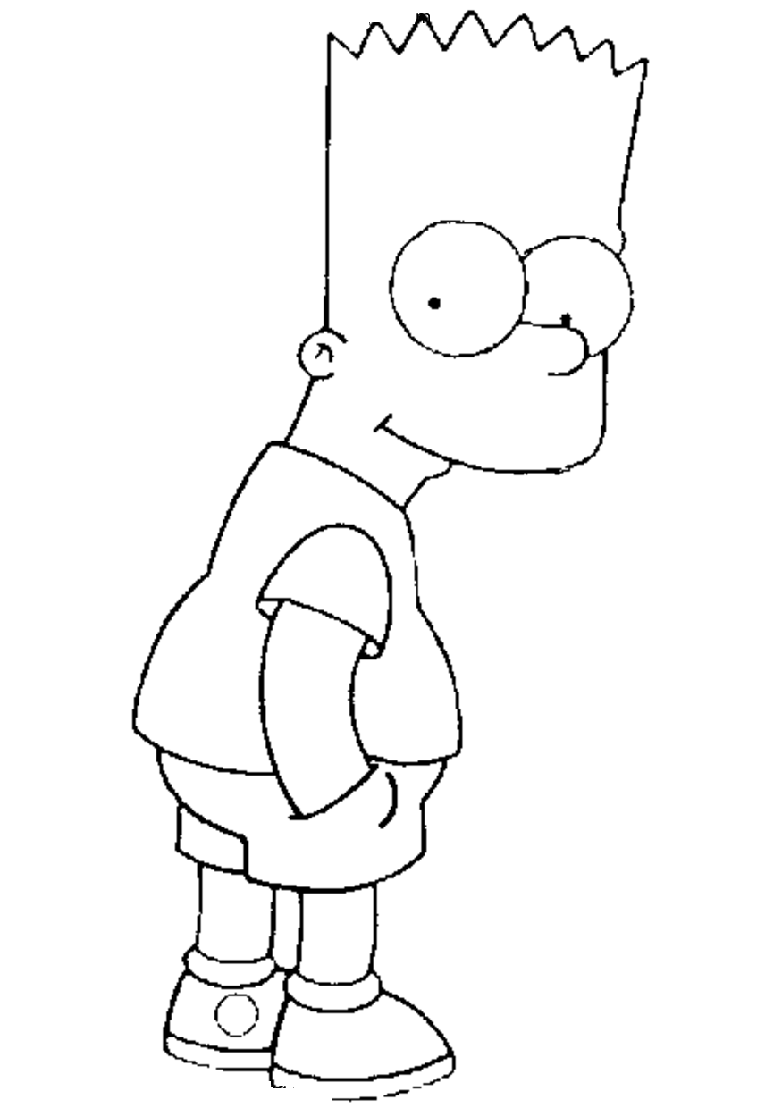 the simpsons coloring book pages - photo#25