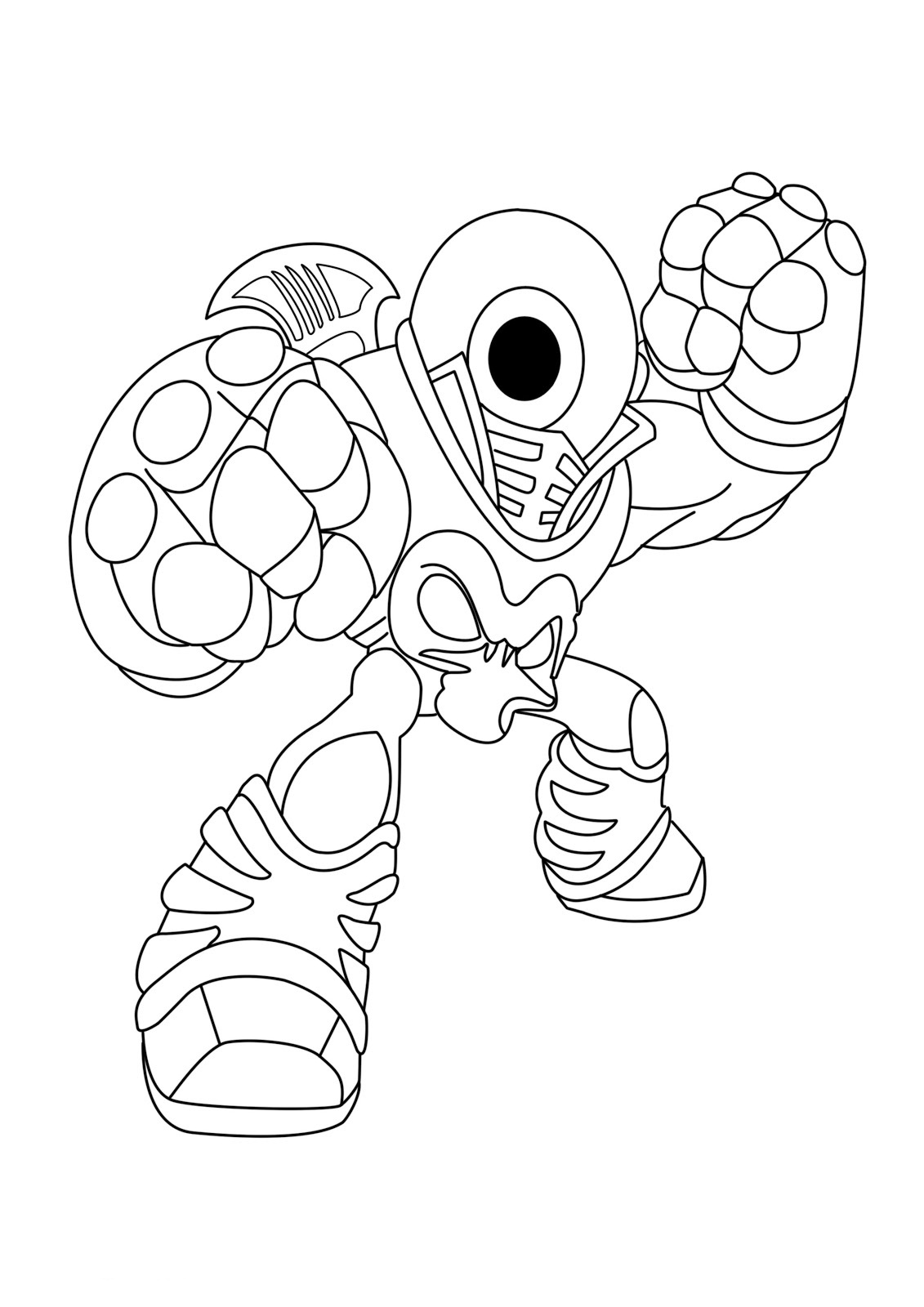 Free printable skylander giants coloring pages for kids - Coloriage skylanders giants ...