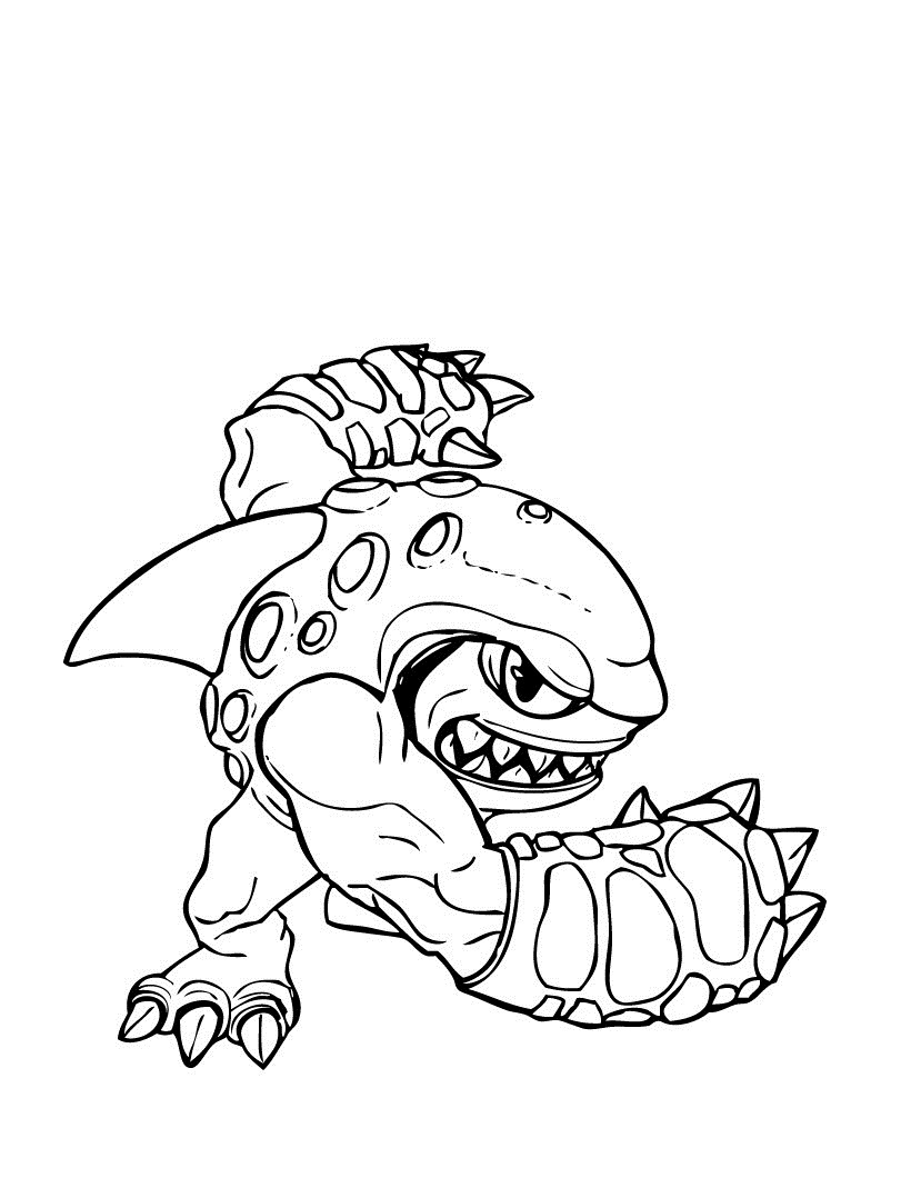 skylander giant coloring pages - Skylander Coloring Pages Print
