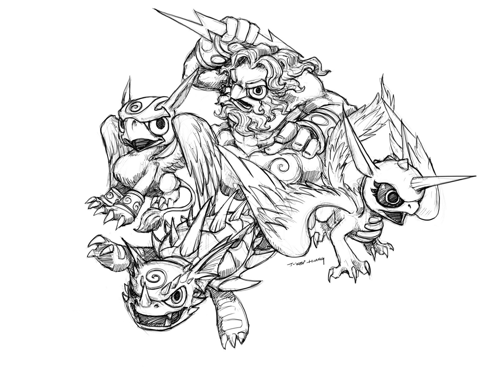 Free Printable Skylander Giants Coloring Pages For Kids Skylander Colouring Pages