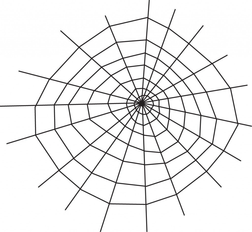 free spider web coloring pages - photo#4