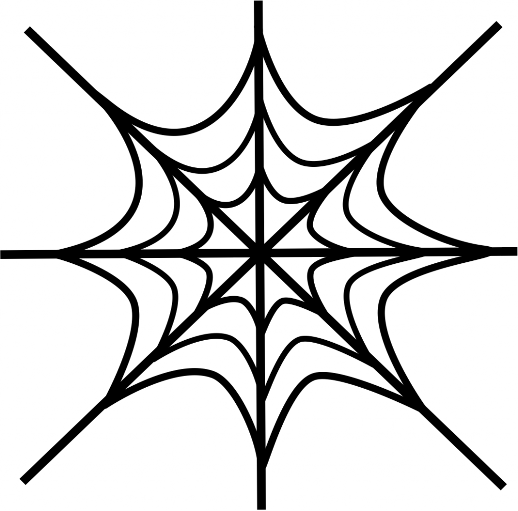 Free printable spider web coloring pages for kids for Easy drawing websites
