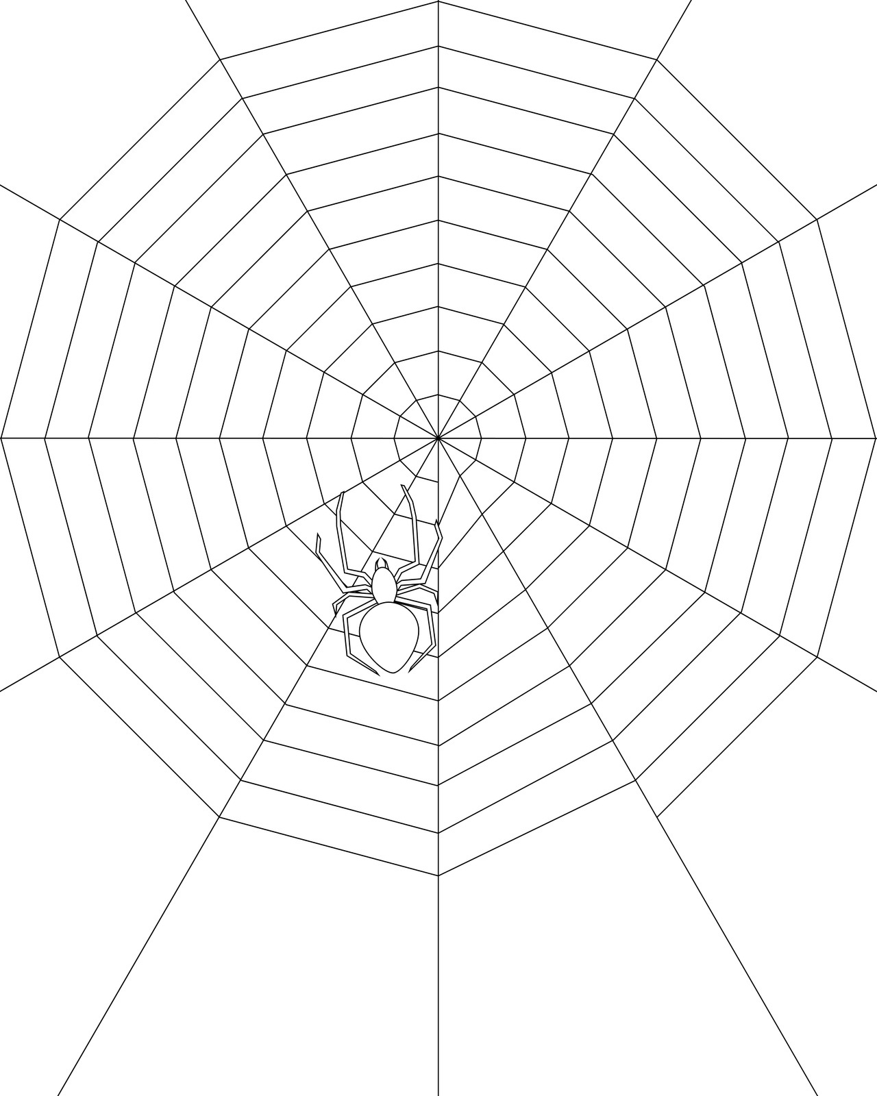 free spider web coloring pages - photo#11