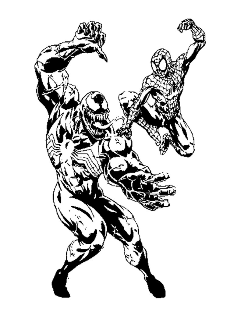 Coloring pages venom - Spiderman And Venom Coloring Pages