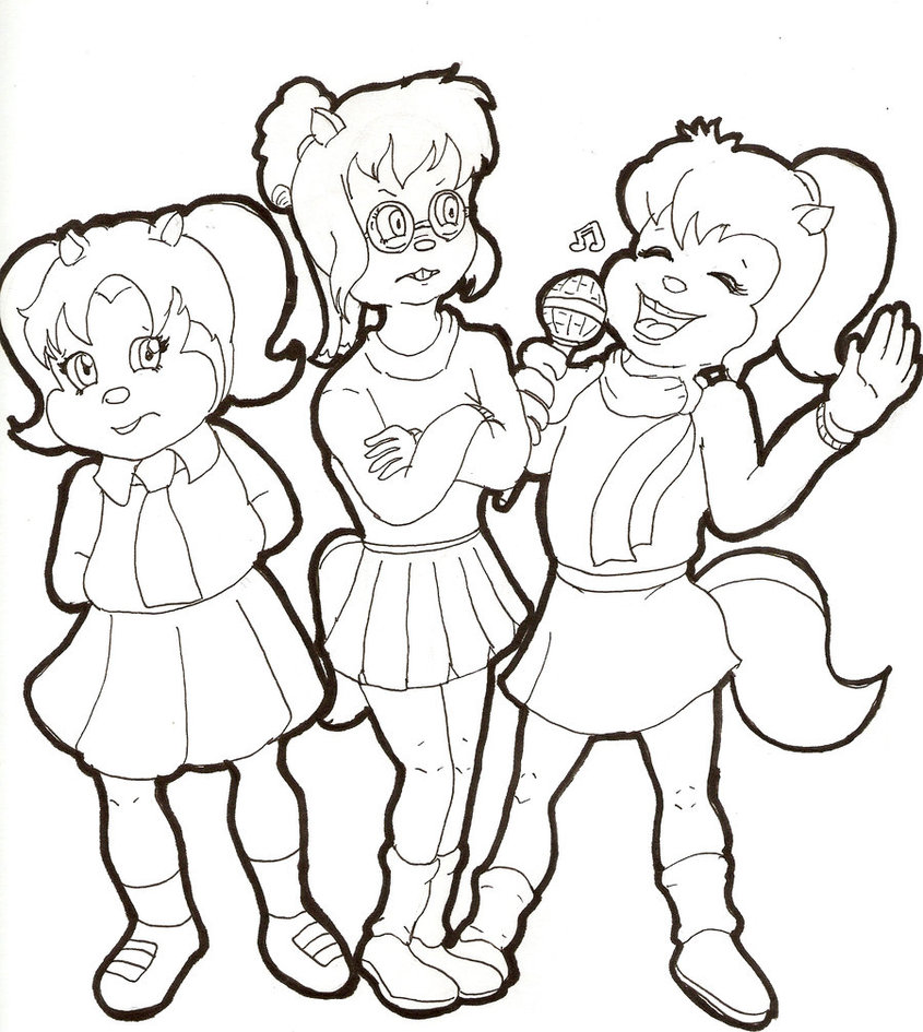 the chipettes coloring pages free - photo#21