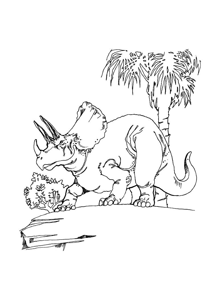 triceratop coloring pages - photo#27