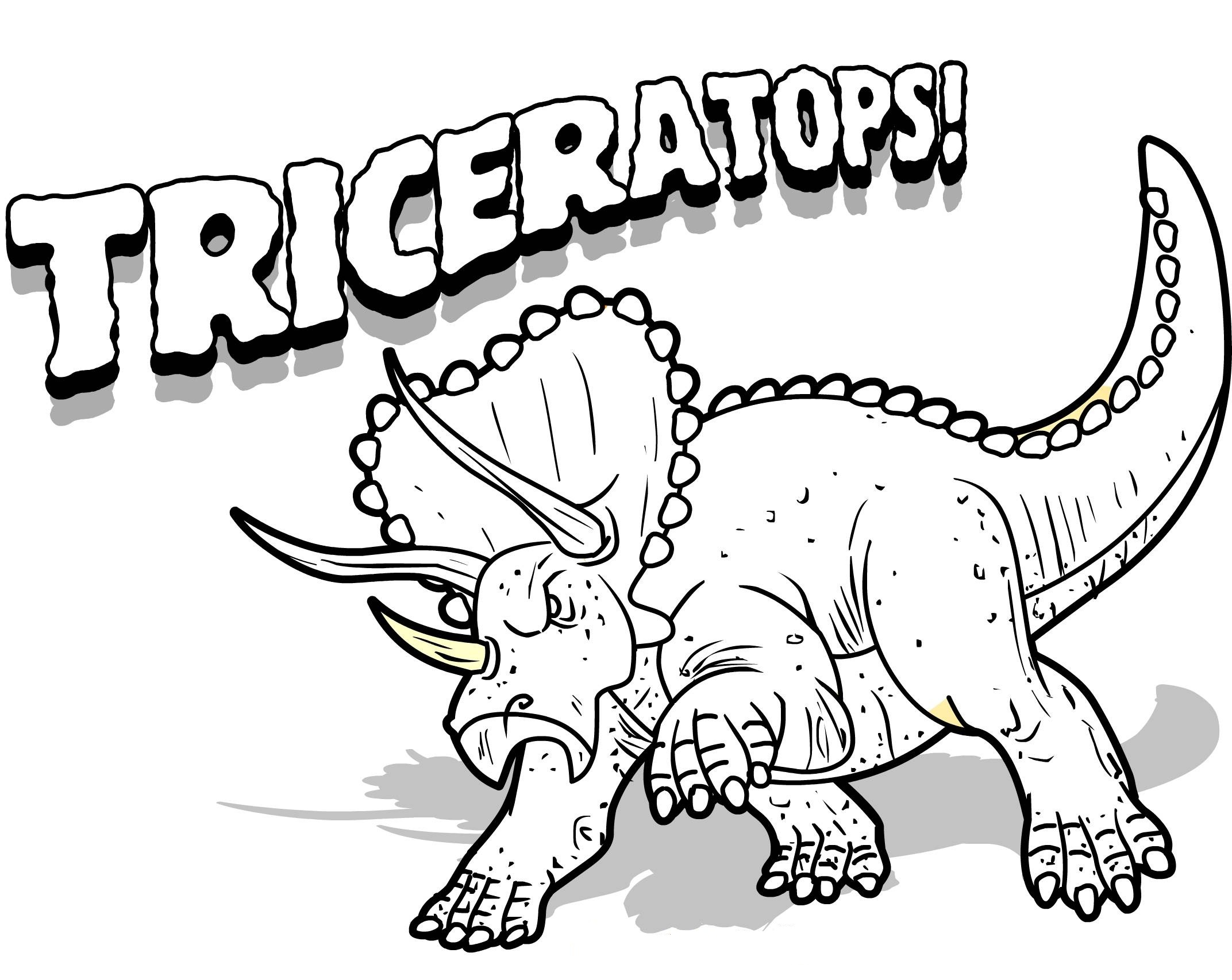 Free Printable Triceratops Coloring