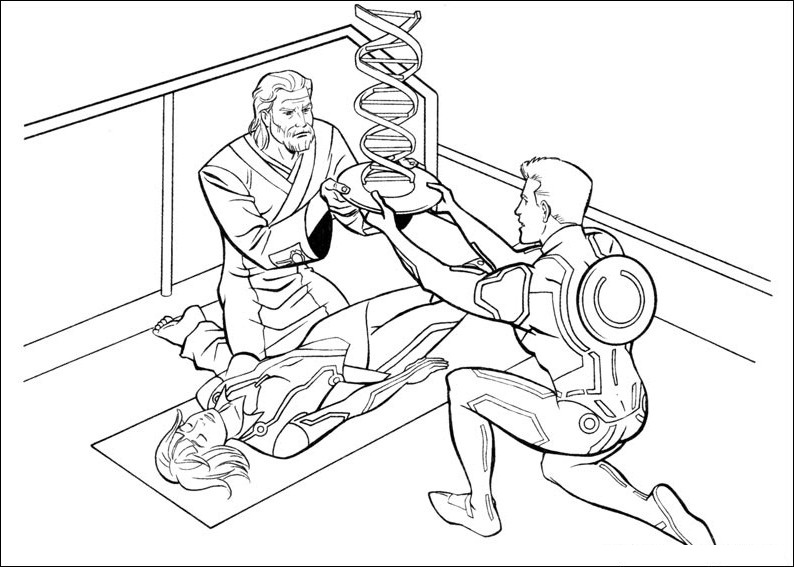 tron coloring pages printable - Tron Coloring Pages