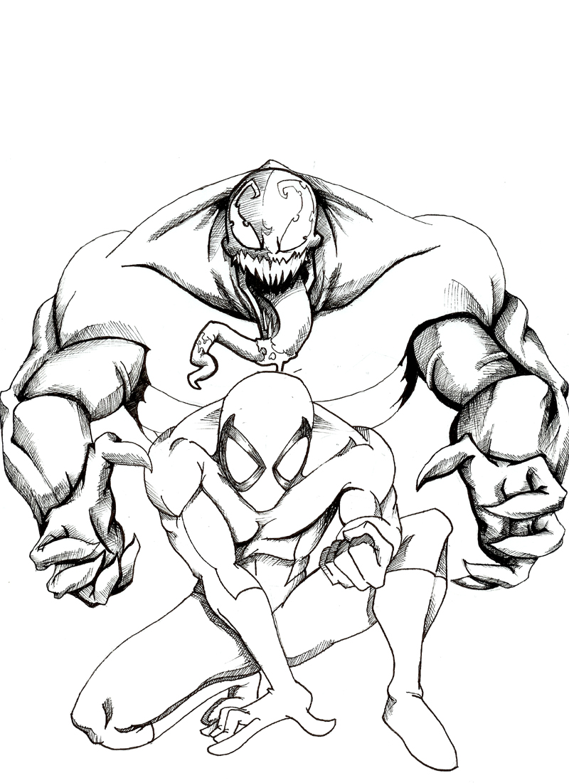 spiderman 3 venom coloring pages - photo#23