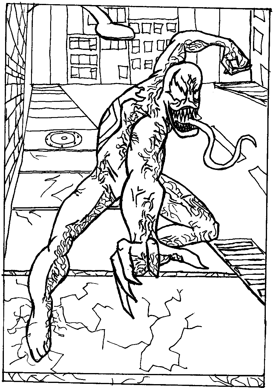 spiderman 3 venom coloring pages - photo#19