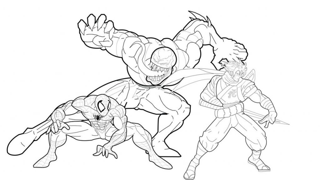 venom coloring pages for kids | Free Printable Venom Coloring Pages For Kids