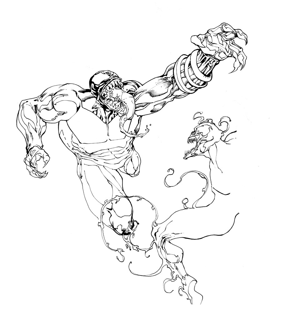spiderman carnage coloring pages - photo#24