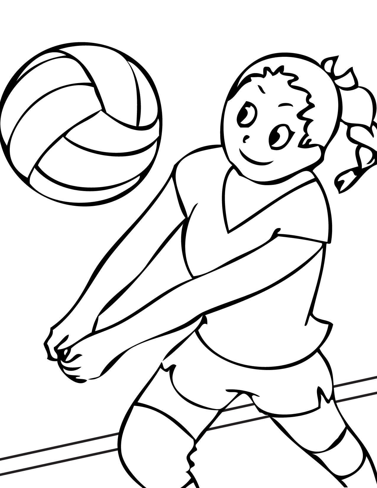 free printable volleyball coloring pages for kids