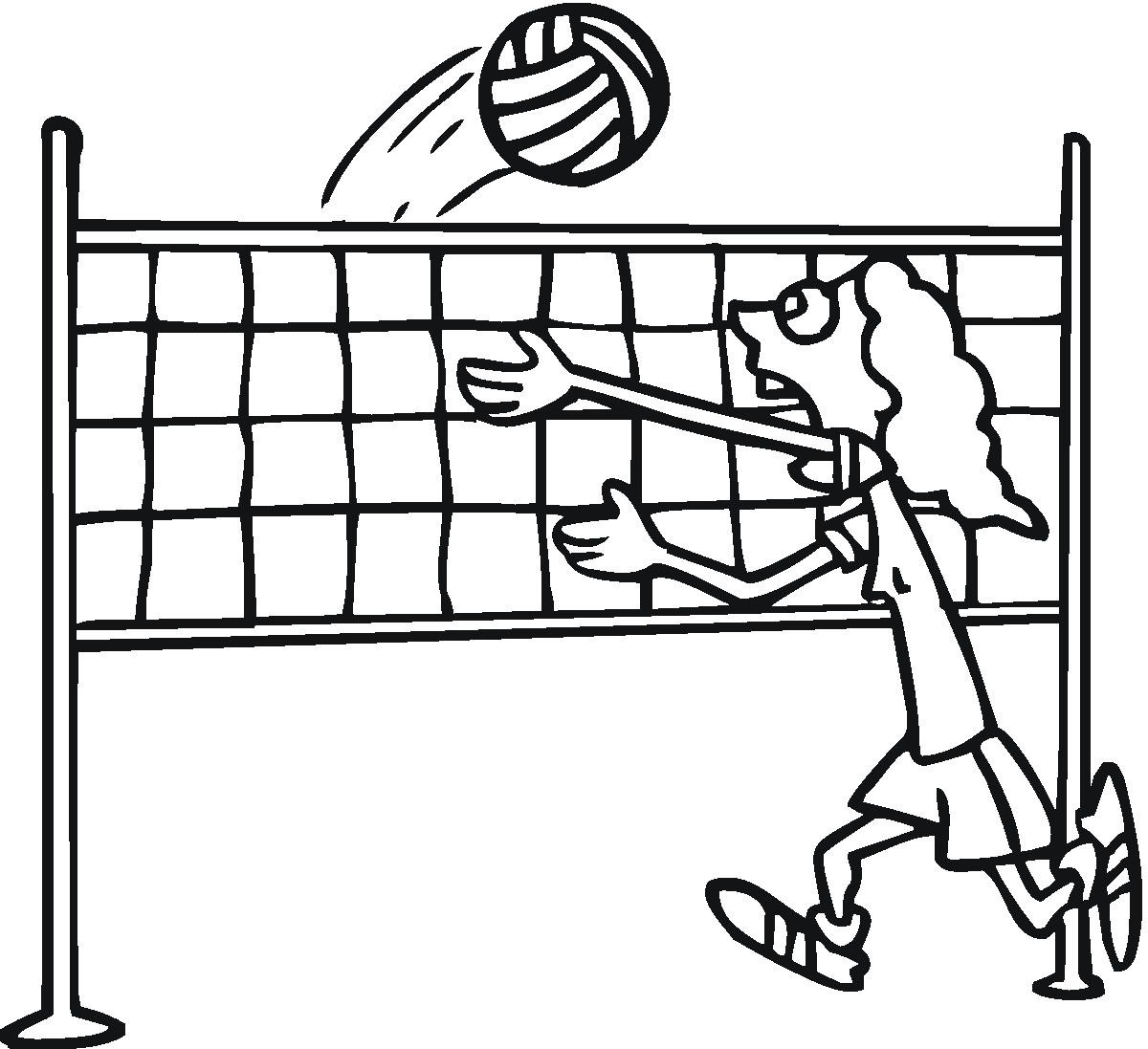 Free Printable Volleyball Coloring Pages For Kids Coloring Page Net