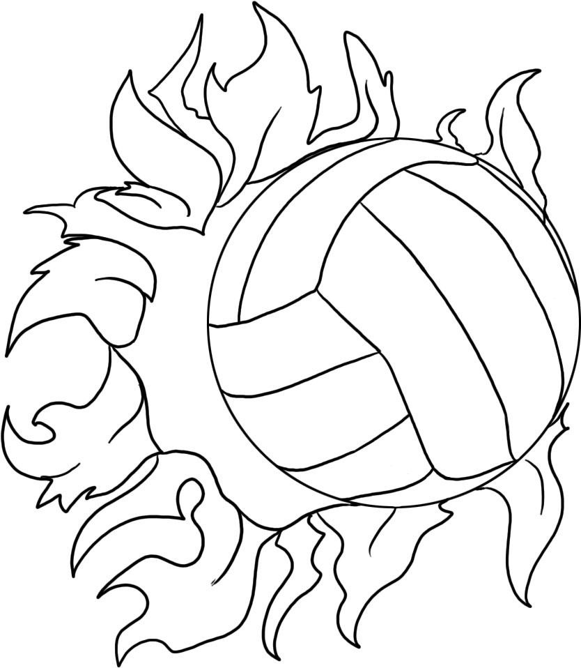 Volleyball Coloring Pages Free Printable Volleyball Coloring Pages For Kids